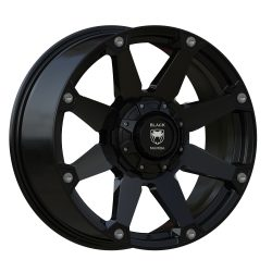 Black Mamba M-1 20x9 Matt Black with Machined Rivets and Milling