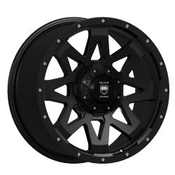 Black Mamba M-2 20x9 Matt Black