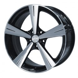 AU AU-238 17x8 Gloss Black with Machine Face