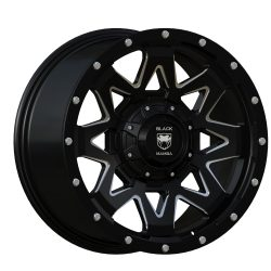 Black Mamba M-2 20x9 Matt Black with Machined Rivets and Milling