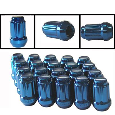 Anodized Close End Key Nut (Blue)