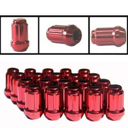 Anodized Close End Key Nut (Red)