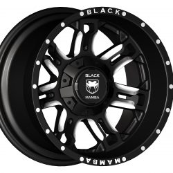 Black Mamba M-6 17x10 Matt Black with Machined Rivets and Milling