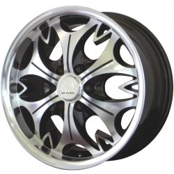G2 G2-103 16x7.5 Gloss Black with Machine Face