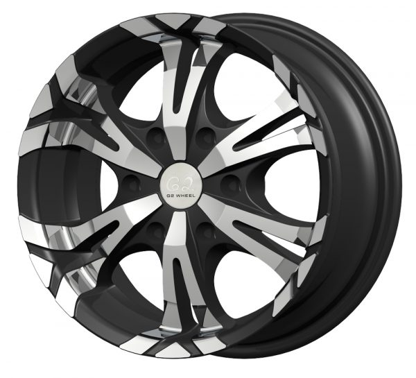 G2 G2-104 15x7.5 Gloss Black with Machine Face
