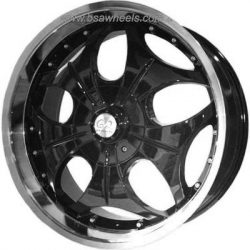 G2 G2-118 24x10 Gloss Black with Machine Lip