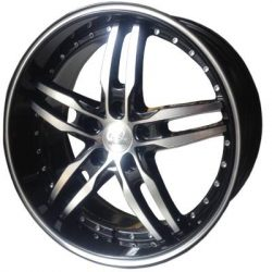 G2 G2-169 20x8.5 Gloss Black with Machine Face