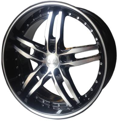 G2 G2-169 18x8 Gloss Black with Machine Face