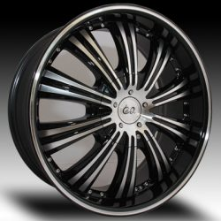 G2 G2-180 22x9.5 Gloss Black with Machine Face and Pinstripe
