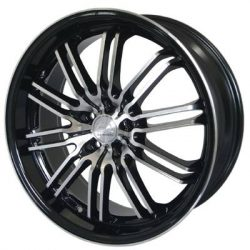 G2 G2-184 18x8 Gloss Black with Machine Face and Pinstripe