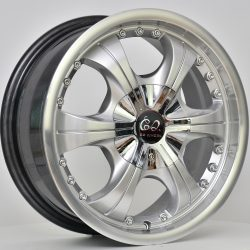 G2 G2-22 15x6.5 Hyper Silver with Machine Face