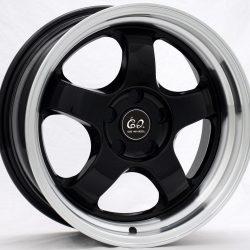 G2 G2-23 17x7.5 Gloss Black with Machine Lip