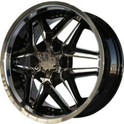 G2 G2-249 22x9.5 Gloss Black with Paintable Inserts