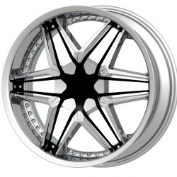 G2 G2-249 22x9.5 Chrome with Paintable Inserts
