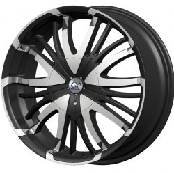 G2 G2-28 18x7.5 Gloss Black with Machine Face