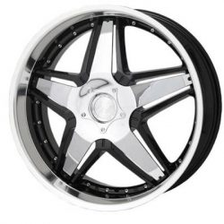 G2 G2-286 22x9.5 Gloss Black with Paintable Inserts
