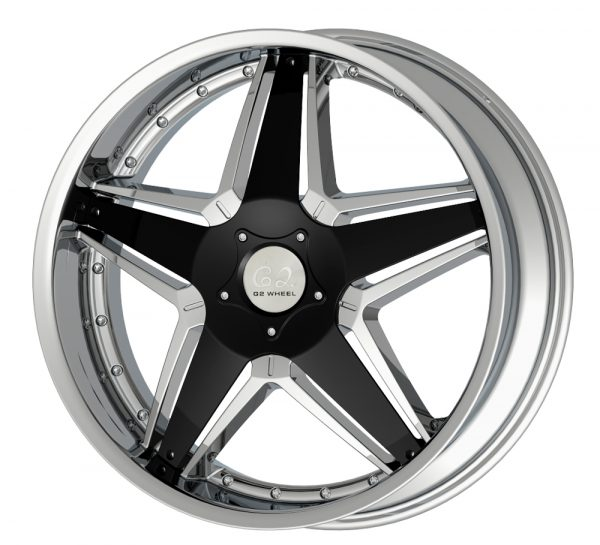 G2 G2-286 22x8.5 Chrome with Paintable Inserts