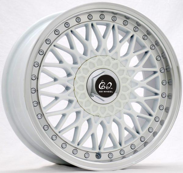 G2 G2-29 17x8 Gloss White with Machine Lip