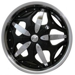 G2 G2-318 22x9.5 Gloss Black with Paintable Inserts