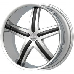 G2 G2-320 22x9.5 Chrome with Paintable Inserts