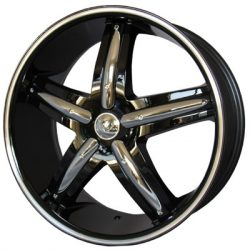 G2 G2-320 20x8.5 Gloss Black with Machine Pinstripe with Paintable Inserts