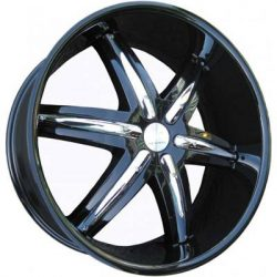 G2 G2-321 22x9.5 Gloss Black with Paintable Inserts
