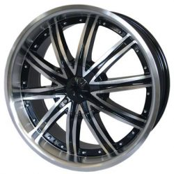 G2 G2-322 18x7.5 Gloss Black with Machine Face