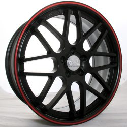 G2 G2-325 20x8.5 Matt Black with Red Pinstripe