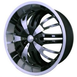 G2 G2-346 22x9.5 Gloss Black with Paintable Inserts