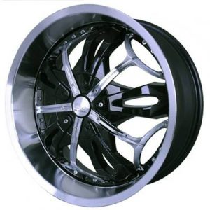 G2 G2-347 22x9.5 Gloss Black with Paintable Inserts
