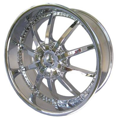 G2 G2-348 22x9.5 Chrome with No Inserts