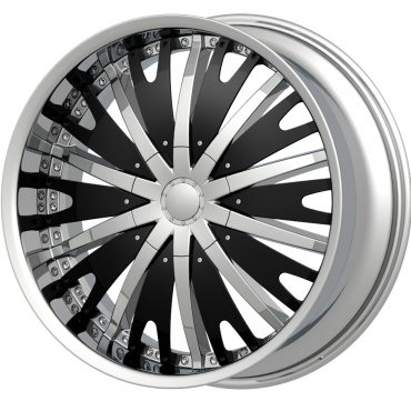 G2 G2-348 22x9.5 Chrome with Paintable Inserts