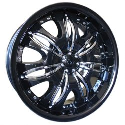 G2 G2-353 20x8.5 Gloss Black with Paintable Inserts