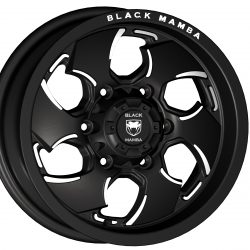 Black Mamba M-16 15x7.5 Matt Black with Machine Milling