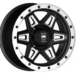 Black Mamba M-18 17x9 Matt Black with Machined Rivets and Milling