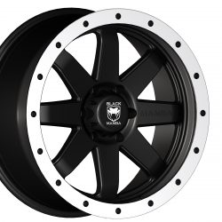 Black Mamba M-20 20x9 Matt Black with Machined Rivets and Milling