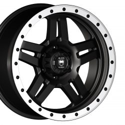 Black Mamba M-21 20x9 Matt Black with Machined Rivets and Milling
