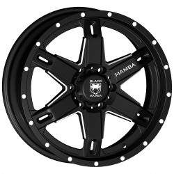 Black Mamba M-10 20x9 Matt Black with Machined Rivets and Milling