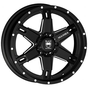 Black Mamba M-10 20x9 Matt Black with Machined Rivets and Milling
