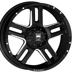 Black Mamba M-11 20x9 Matt Black with Machined Rivets and Milling