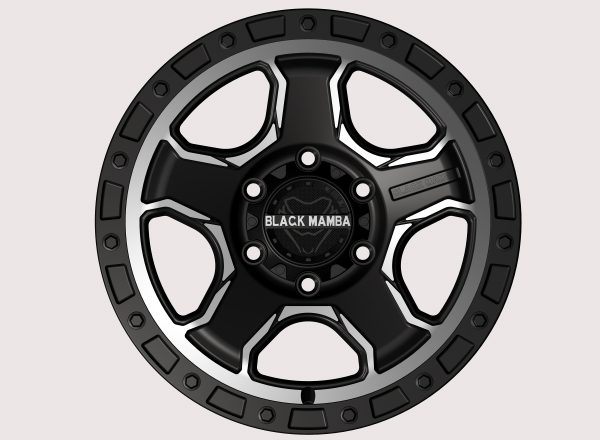Black Mamba M-29 17x9 Matt Black with Machined Milling