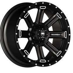 Black Mamba M-5 20x9 Matt Black with Machined Rivets and Milling