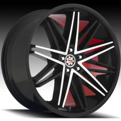 Scarlet SW-1 22x9 Matt Black Machined with Scarlet Inner Lip