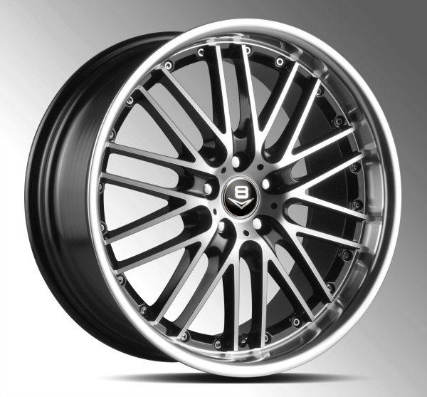 V8 V-12 20x8.5 Gloss Black with Machine Face