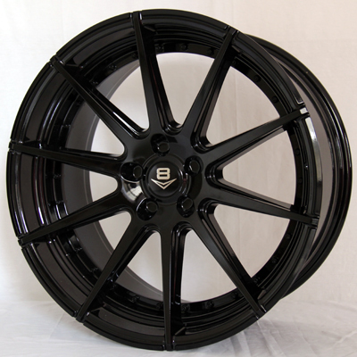 V8 V-15 20x10 Gloss Black