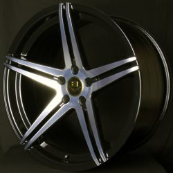 V8 V-24 19x8.5 Gloss Black with Machine Face
