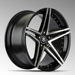 V8 V-30 19x9.5 Gloss Black with Machine Face