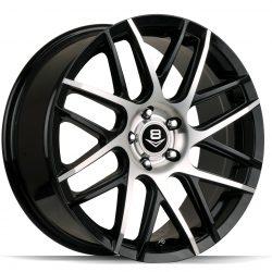 V8 V-35 19x8.5 Gloss Black with Machine Face