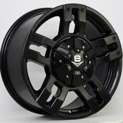 V8 V-6 17x8 Matt Black
