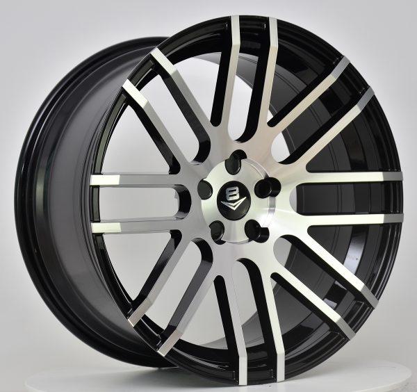 V8 V-70 20x8.5 Gloss Black with Machine Face